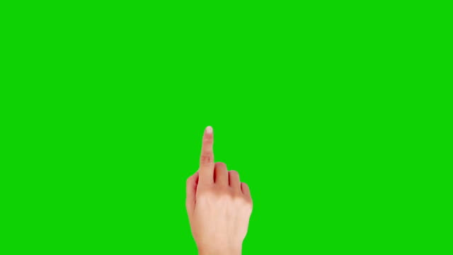 Female hand. Touchscreen gestures. Green Screen. Technology. Caucasian young woman. video