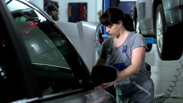 Female Mechanic At Work video