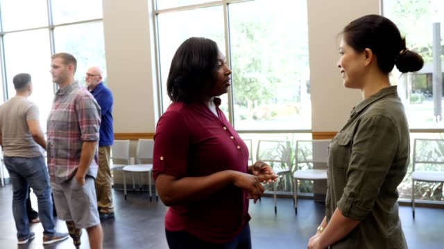 Female military veterans attend event for veterans
