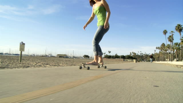 Female Model Long Boarding video