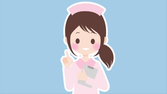 female nurse to explain - kawaii video stock e b–roll