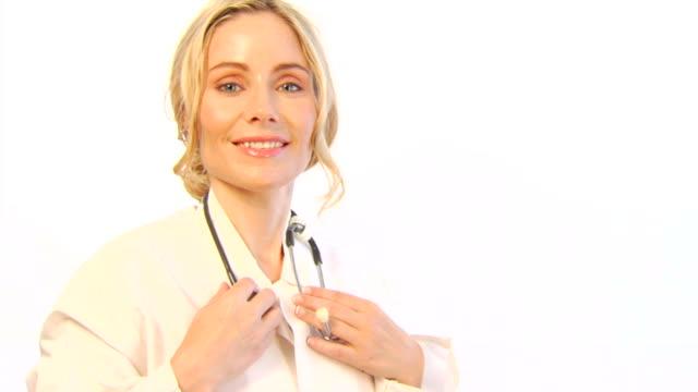 Female Physician on White b video