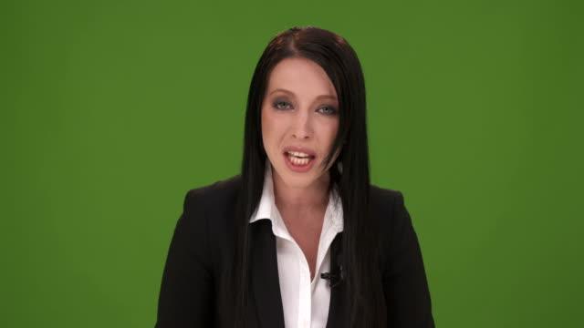 HD: Female Presenter Moderating TV Show video