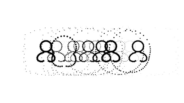 USERS - female, pure black dots (LOOP) video