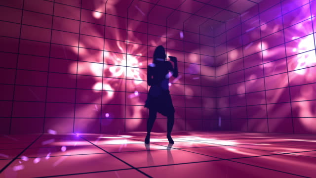 Female Rock Star On 3D Colorful Stage video