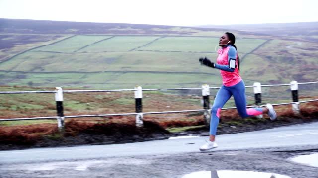 Female Runner in Training video