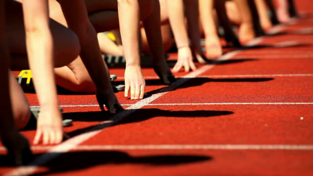 Female Runners At Starting Block Cinemagraph
