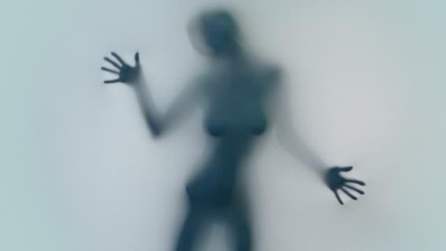 Female silhouette video