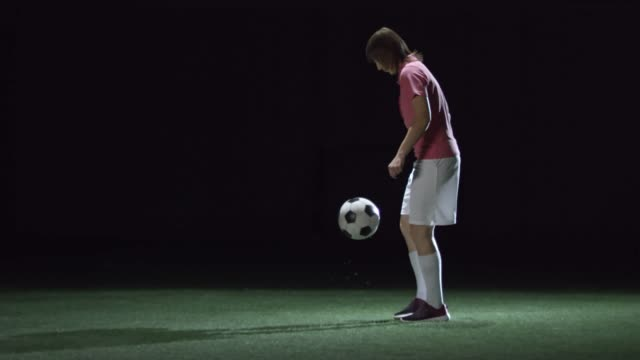 Female Soccer Player Juggling a Ball video