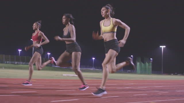 Female Sports Athlete on Race Track