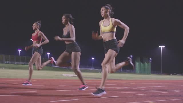 Female Sports Athlete on Race Track video