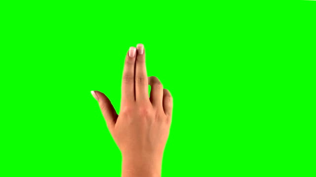 female touchscreen gestures 4k source downscaled. Set of hand gestures. Showing the uses of computer touchscreen tablet trackpad or tablet computer with green screen. modern technology gesturing stock videos & royalty-free footage