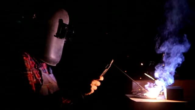Female welder Female welder metalwork stock videos & royalty-free footage