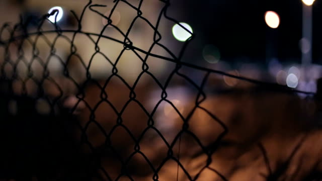 Fence, Defocused passing car, Night, Light Reflection video