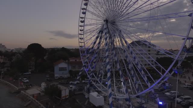 Ferris wheel by the sea - video