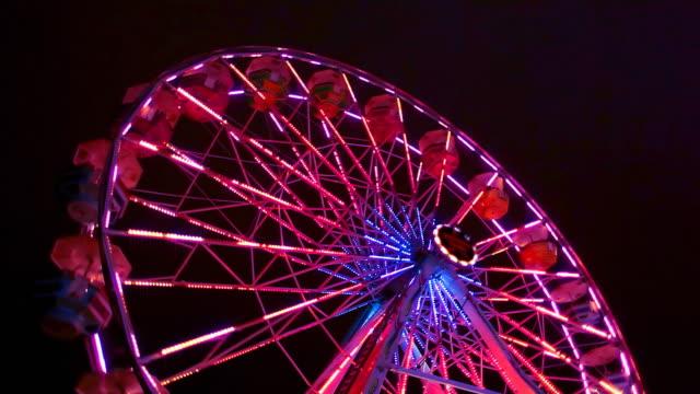 Ferris Wheel Carnival Ride at Night video