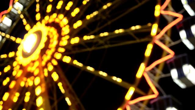 Ferris Wheel Defocused Night HD Video video