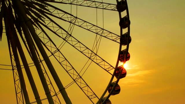 Ferris wheel in silhouette video