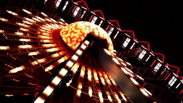 Ferris Wheel por la noche - vídeo