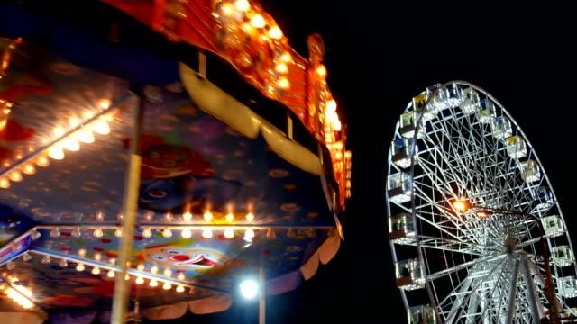 Ferris wheel night park video