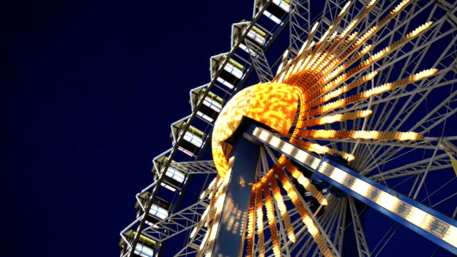 Ferris wheel, Realtime, Hd video