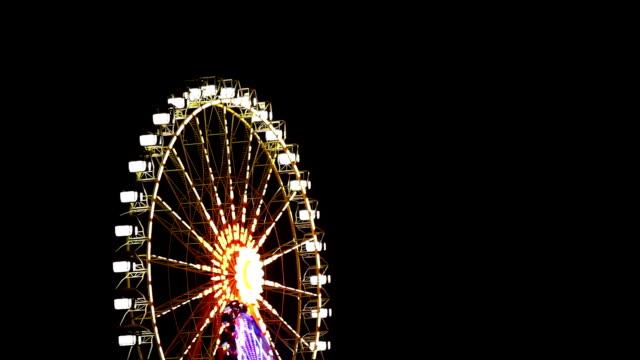 Ferris Wheel Spinning at Night video