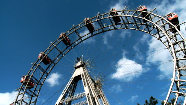 Ferris wheel wide shot quick motion video