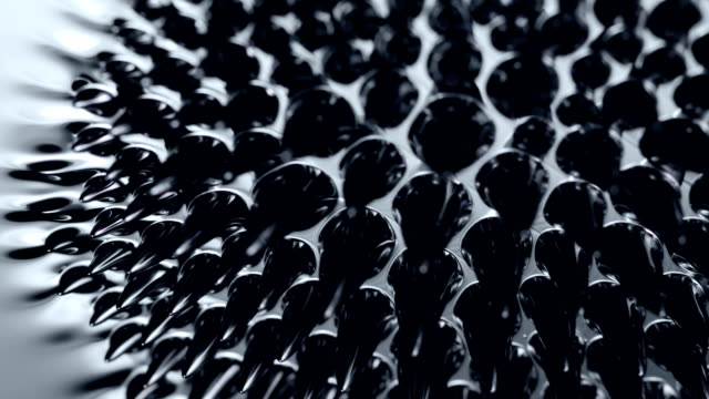 Ferrofluid. Сlose-up. Black liquid surface. Abstract background. magnet stock videos & royalty-free footage