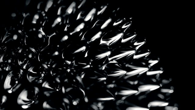 ferrofluid. сlose-up. - magnete video stock e b–roll
