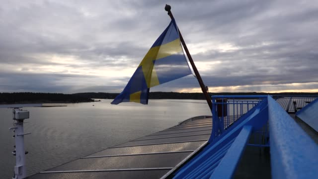 vídeos de stock e filmes b-roll de ferry boat finland - arquipélago