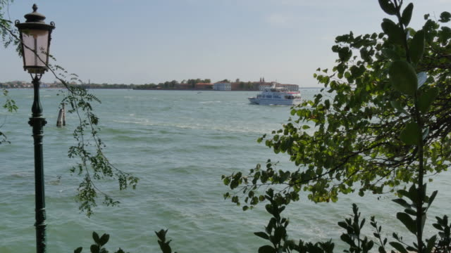ferry boat sails along Giudecca Canal video