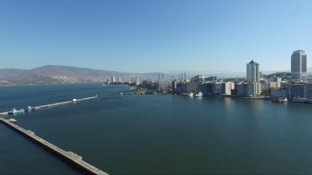 ferry services in izmir, sea views - cultura del medio oriente video stock e b–roll