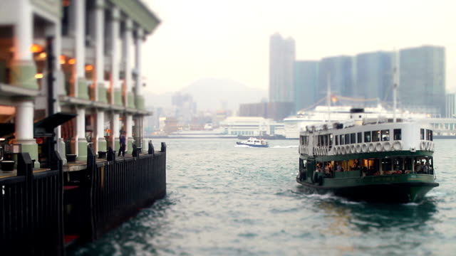 Ferry Transports People on Water (Sea) video