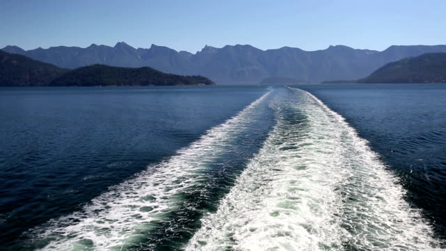 Ferry Wake Horseshoe Bay West Vancouver video