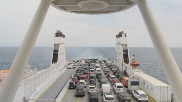 Ferry With Cargo Of Cars