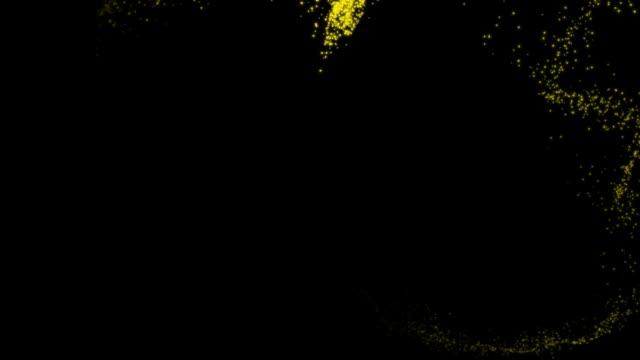 お祝いのアニメーションフレーム、輝く粒子 ビデオ