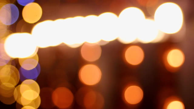 Festive atmosphere, beautiful LED illumination decorating building, New Year video