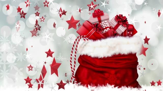 お祝いクリスマスの背景、幸せな新年の挨拶 - 十二月点の映像素材/bロール