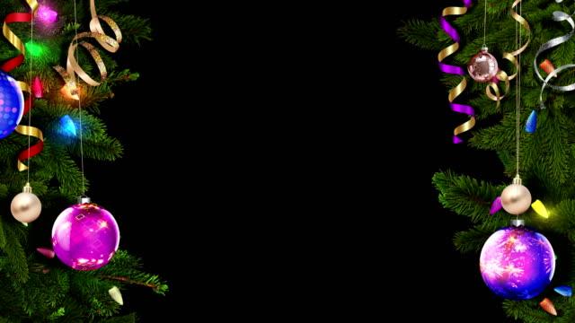 festlig jul ram med alpha mask en utmärkt och magiska atmosfär. loopas - christmas frame bildbanksvideor och videomaterial från bakom kulisserna