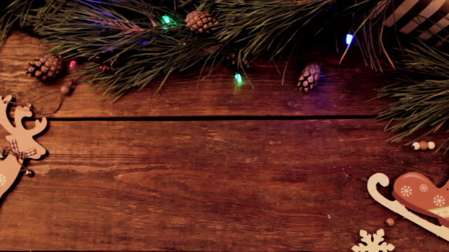 Festive Christmas wooden background video