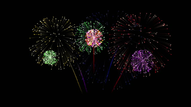 festive fireworks - petardo video stock e b–roll