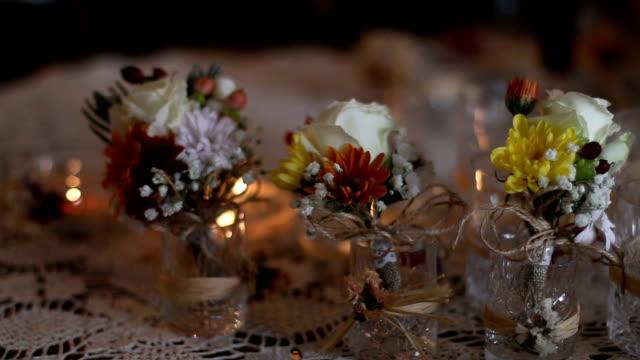 Festive table decoration video