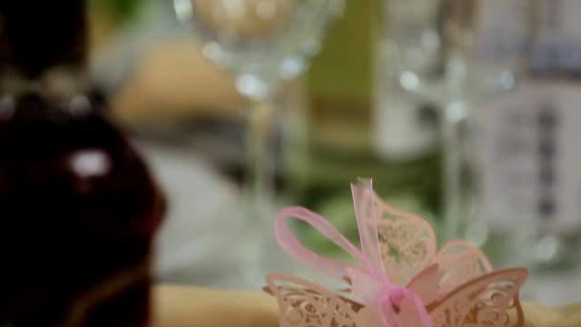 Festive wedding table video