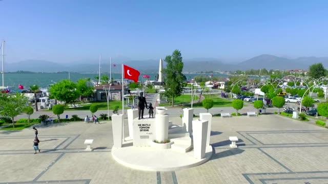 Fethiye Beskaza Square Aerial View video