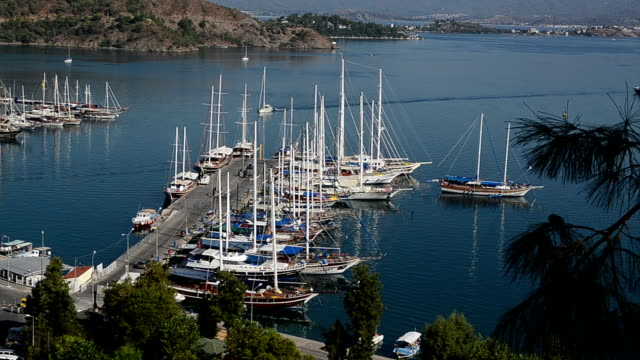 Fethiye town view Fethiye town view aegean turkey stock videos & royalty-free footage
