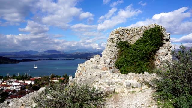 Fethiye view of the castle. Fethiye, Turkey aegean turkey stock videos & royalty-free footage
