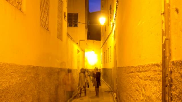 fez sunset gatan rotation timelapse - walking home sunset street bildbanksvideor och videomaterial från bakom kulisserna