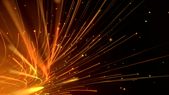 vidéos et rushes de câbles à fibre optique transfert global de données arrière-plan en boucle - fibre