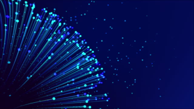 Fiber Optic Cables - Global Data Transfer Background Fiber Optic Cables - Global Data Transfer Background dark blue stock videos & royalty-free footage