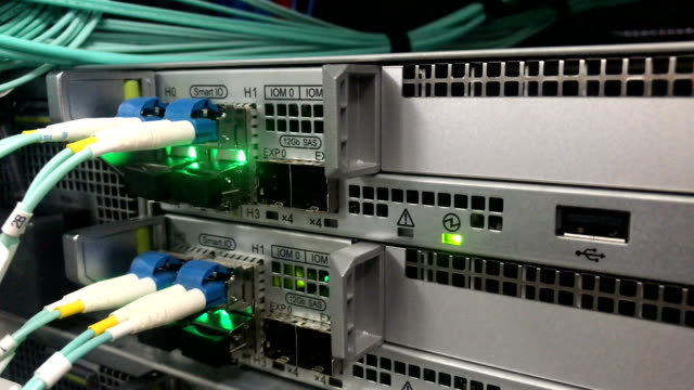 Fiber Optic Connect Switch In server room